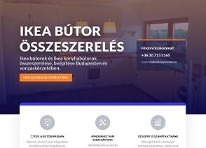 Online marketing kivitelezés. Bútorszerelő weboldal készítés.
